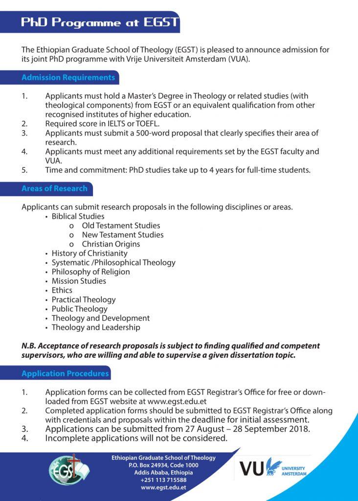 PhD Programme at EGST – EGST