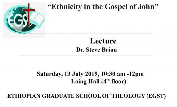 Ethnicity in the Gospel of John-1